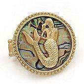 Large Gold Plated 'Mermaid' Flex Ring - 4cm Diameter