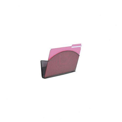 Safco Onyx Magnetic Mesh File Organiser in Black - Single Pocket