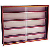 Reveal - 4 Shelf Glass Wall Display Cabinet - Mahogany
