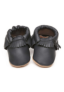 Olea London Moccasins Baby Shoes Blue - Blue