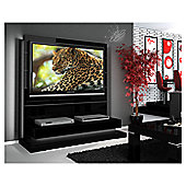 "Triskom Contemporary 55"" TV Stand - Black Gloss"