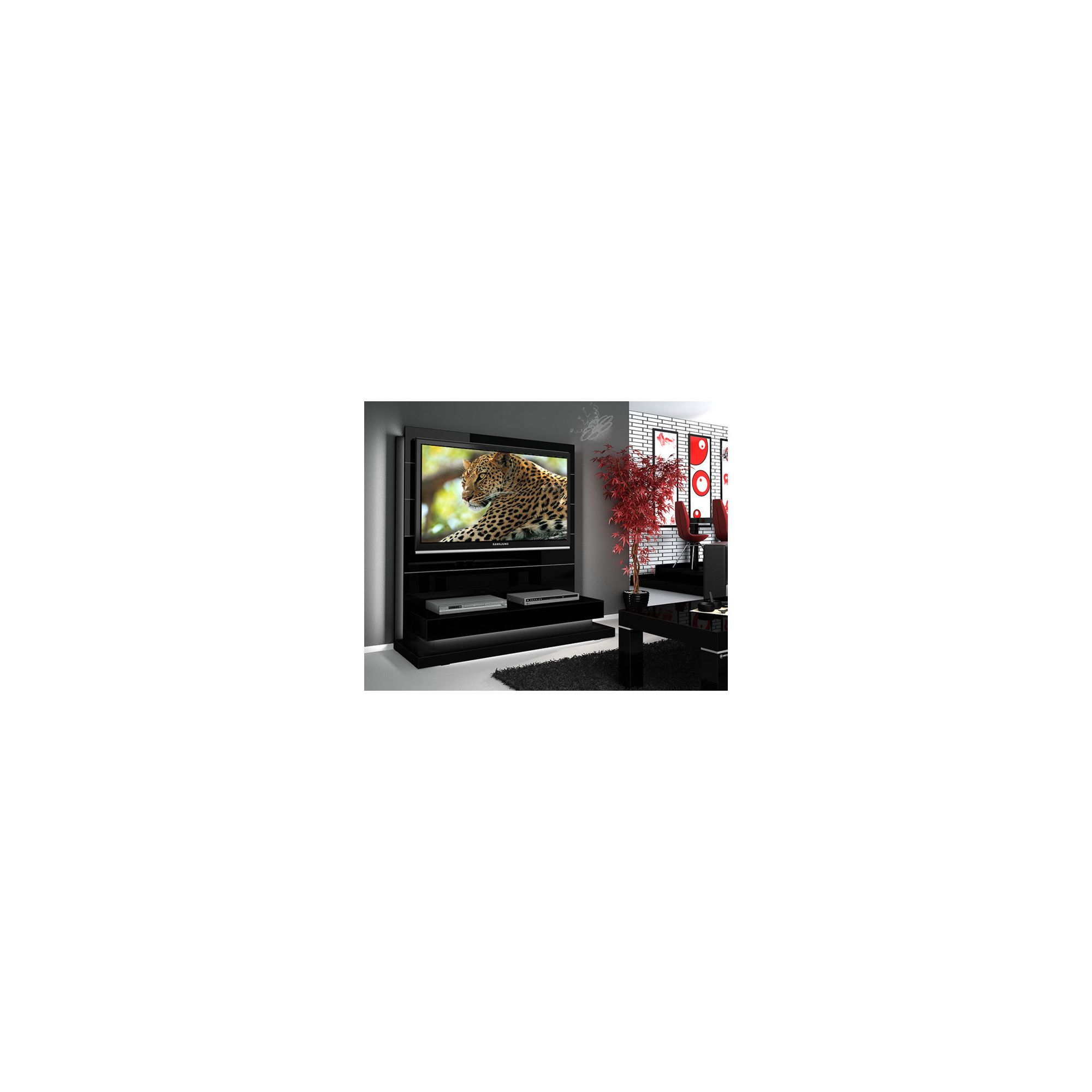 Triskom Contemporary 55'' TV Stand - Black Gloss at Tesco Direct