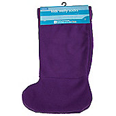 Kids Welly Sock Walking Hiking Wellington Boot Socks 1 Pair - Purple
