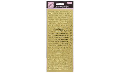 Outline Stickers Teen Talk Gold