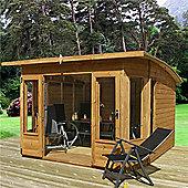 8ft x 8ft Pent Style Summerhouse 8 x 8 Garden Wooden Summerhouse