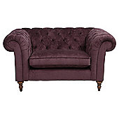 Chesterfield Loveseat Velvet Plum