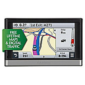 "Garmin nuvi 2598LMT-D EU Sat Nav, 5"" LCD Touch Screen with UK & European Maps & Free Lifetime Map Updates"