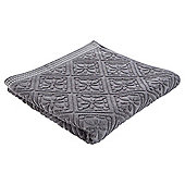 Tesco Jacquard Bath Towel Grey