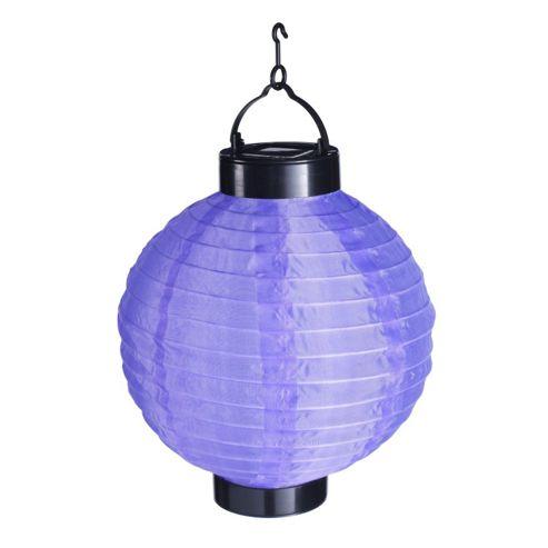 Buy Purple LED Solar Powered Hanging Chinese Lantern from our Solar Lights range - Tesco