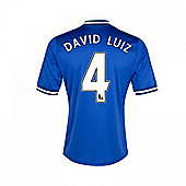 2013-14 Chelsea Home Shirt (David Luiz 4) - Kids - Blue