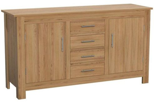 Kelburn Furniture Milano Large Sideboard in Clear Satin Lacquer