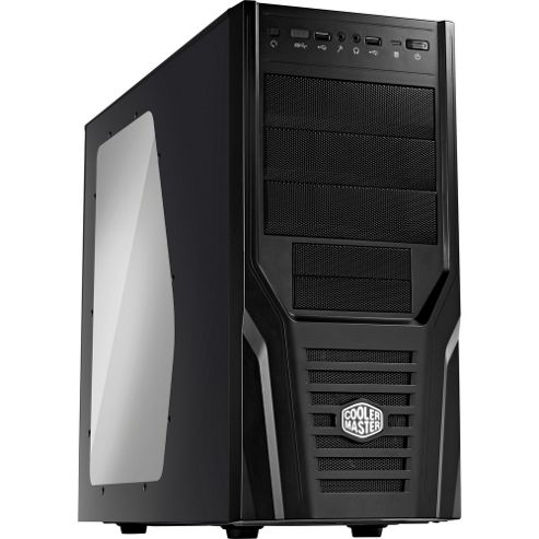 Cooler Master Elite 431 Plus Mid Tower Chassis (Black)