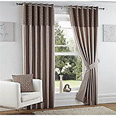 Curtina Woburn Mink 90x72 inches (228x183cm) Eyelet Curtains
