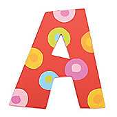 Tatiri TA301 Spots and Stripes Wooden Letter A