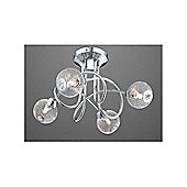 Home Essence Saint Mary 4 Light Semi-Flush Ceiling Light in Chrome