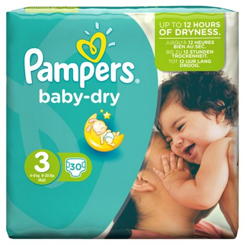 Pampers Baby Dry Size 3 Carry Pack - 30 nappies