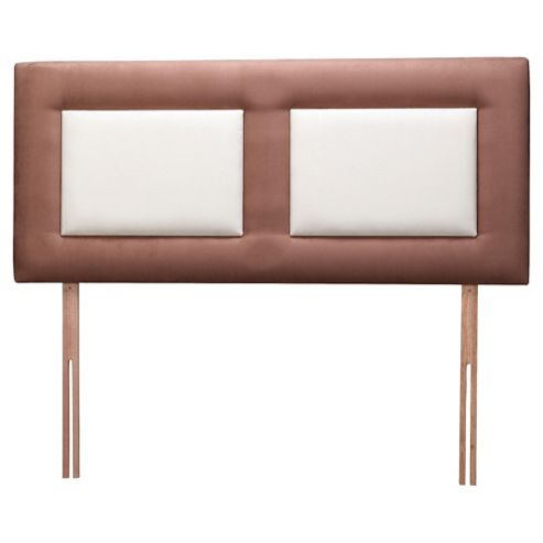 Venice Headboard, Chocolate Outer with Cream Inner, Double