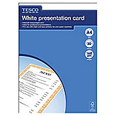 Tesco A4 Executive Presentation Card, 50 Sheets