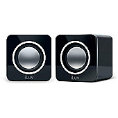 iLuv iSP170 Stereo Speakers for Mac/PC and Laptops (Black)