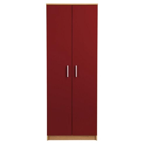 Jazz 2 Door Wardrobe, Red Gloss