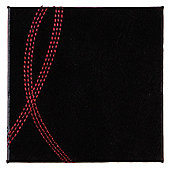 Tesco Reversible Faux Leather Set of 4 Coasters, Red and Black