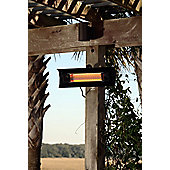 Sun Tastic Wall Mounted Infrared Patio Heater - Black Steel