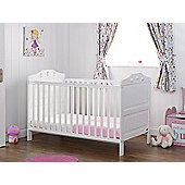 Obaby Lisa Cot Bed and Mattress - White
