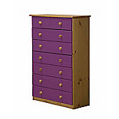 Verona Drawer Chest 6 + 2 Colour Antique and Lilac