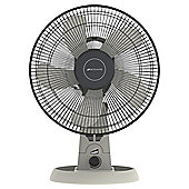 "Bionaire Eco 12"" Desk Fan, 3 Speed - Cool Grey"