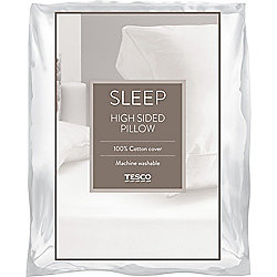 Tesco Walled Pillow with 100% Cotton Cover
