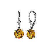 QP Jewellers 2.70ct Citrine Leverback Earrings in Sterling Silver