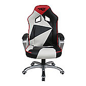 EarthCroc Black White Red Office Racing Gaming Chair Y-2860