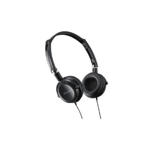 Pioneer Fully Enclosed Headphones with Swivel Black SE-MJ521-K
