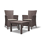 Allibert Rosario Brown Rattan Balcony Set