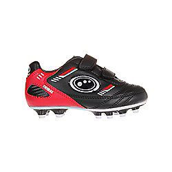 Optimum Tribal Velcro Moulded Kids Football Boot Black - UK 1