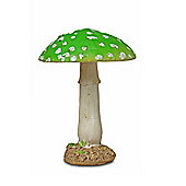 Round Green Head Resin Mushroom Toadstool Garden Ornament