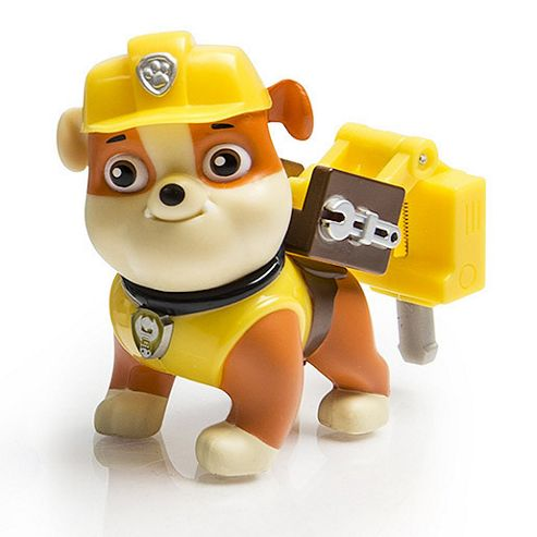 Paw patrol action pack rubble figure and badge