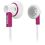 Philips SHE3000 Ear Bud Headphones - Pink