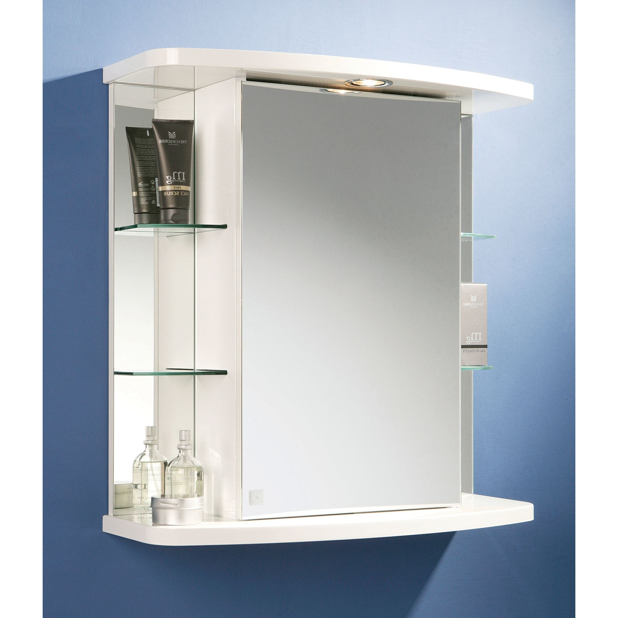HIB Vera Bathroom Cabinet in White High Gloss at Tesco Direct