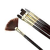Galeria Acrylic Colour 5 Brush Set - Long Handled