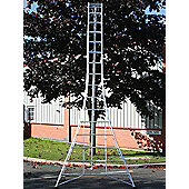 Trade 4.8m (15.7ft) Standard - Garden Hedge Cutting Tripod Ladder