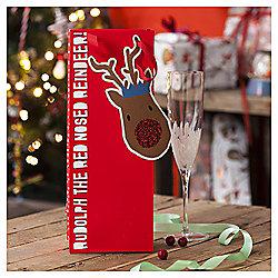 Rudolph Christmas Bottle Bag