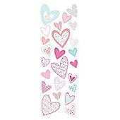 Tesco Kids Patchwork Heart Stickers