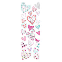 Tesco Kids Patchwork Heart Stickers