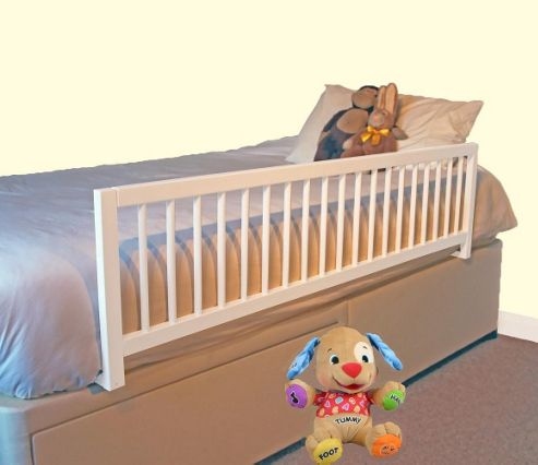Buy Safetots Extra Wide Wooden Bed Rail White From Our Bed
