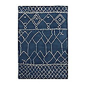 Think Rugs Fusion Blue Tufted Rug - 120 cm x 170 cm (3 ft 9 in x 5 ft 7 in)