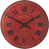 Roger Lascelles Clocks Warm Red London Dial Wall Clock