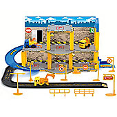 Toyrific Construction Site With 3 Pull Back Vehicles