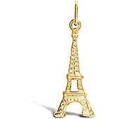 Jewelco London 9ct Solid Gold casted Eiffel Tower Pendant