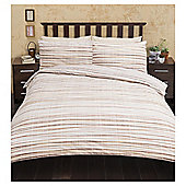 Multi Textured Stripe  Duvet Set, - Natural